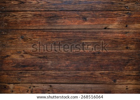 Old rustic red wood background, wooden surface with copy space - stock photo
