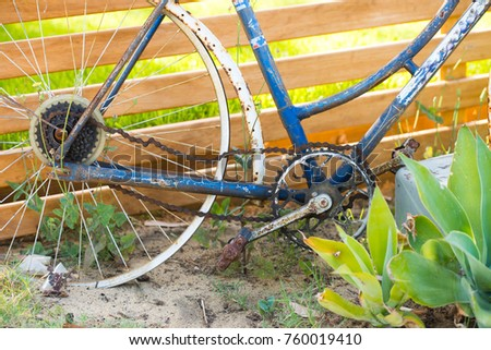 Old Rusty Abandoned Bike Broken Chain Stock Photo (Safe to Use ...