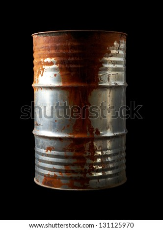 Old Rusty Barrel - stock photo