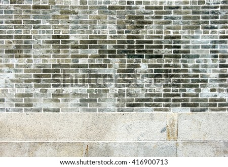Old rusty brick wall texture background