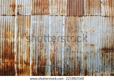 Old rusty galvanized. - stock photo