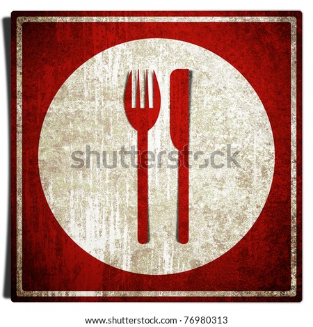 Old rusty grunge retro vintage food sign background - stock photo