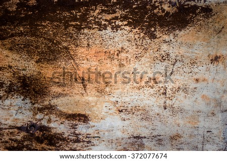 Old rusty grungy metal surface background image - stock photo