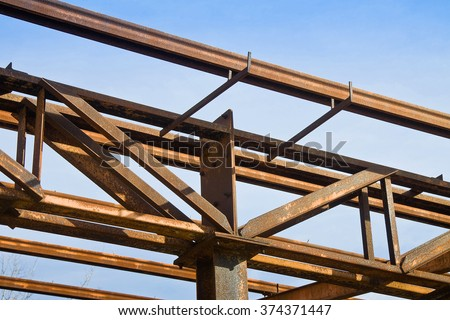 Old rusty iron structure detail