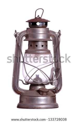 old rusty lamp - stock photo