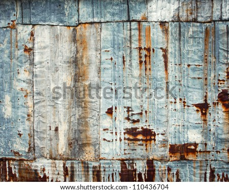 Old rusty metal background - stock photo