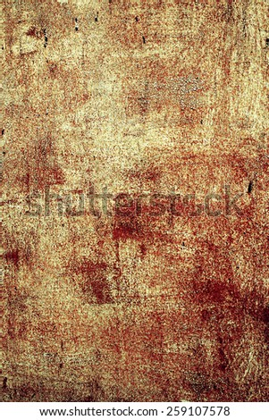 old rusty metal background with scratched and shabby old paint - stock photo