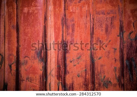 old rusty metal container port background - stock photo
