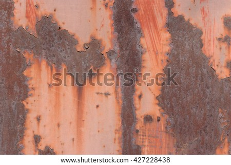 old rusty metal door