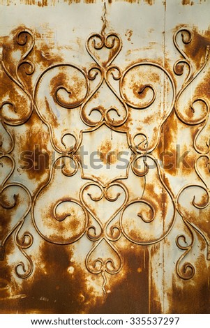 old rusty metal pattern as the background