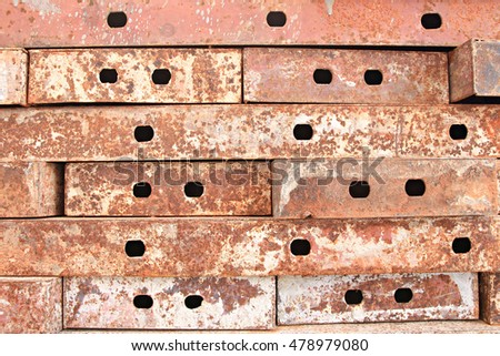 old rusty metal plate background texture Retro.