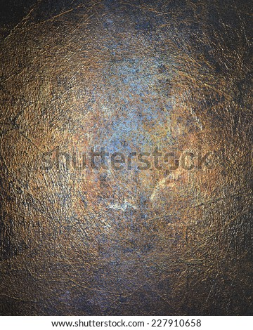 Old rusty metal plate heavily aged and corroded. The corrosion stain creates a grungy frame - stock photo