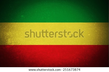 Old rusty metal sign with a flag -Ethiopia - stock photo