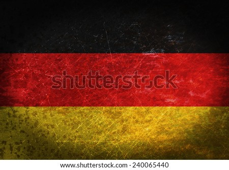 Old rusty metal sign with a flag - Germany