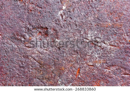 old rusty metal texture with potholes