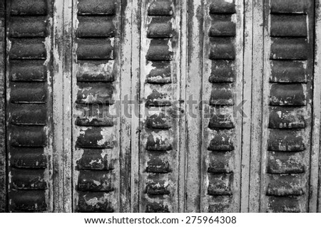 old rusty metal ventilation panel - stock photo