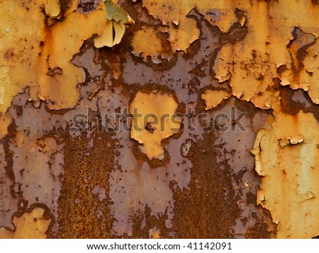 Old, rusty metallic background