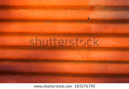 old rusty methal with red paint and sunshades - stock photo