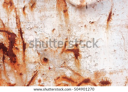 old rusty painted metal wall. wallpaper background