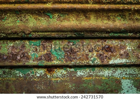 Old rusty surface can be used for background and texture, and use for text input. - stock photo