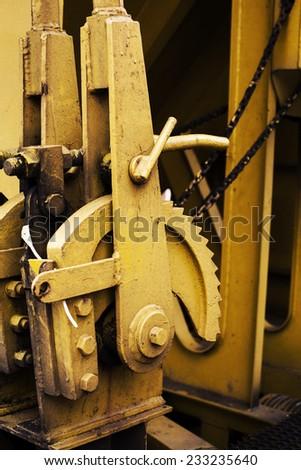 Old rusty train wheels - stock photo