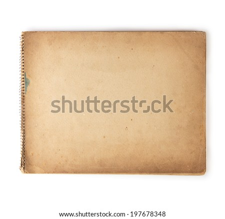 Old 1950s - 1960s sketchbook isolated on white. - stock photo