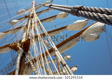 old sail ship 2 - stock photo