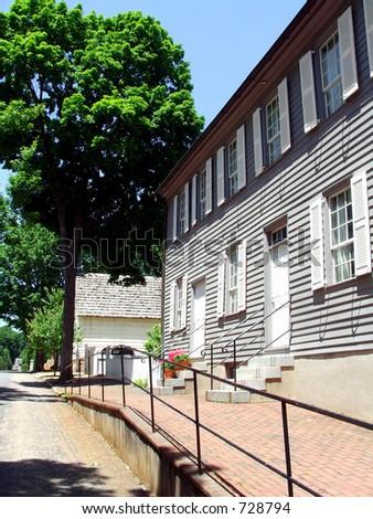Old Salem Building - stock photo