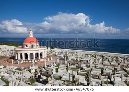 Old San Juan Cemetery Puerto Rico - stock photo