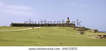 Old San Juan, Fort San Felipe del Morro. A 16th century citadel constructed to protect the town from attack by sea.  Photographed December 2009 - stock photo