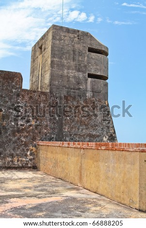 Old San Juan in Puerto Rico : One of the oldest city of the new world. - stock photo