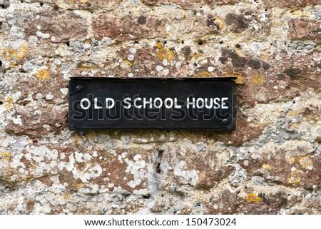 Old school house - stock photo
