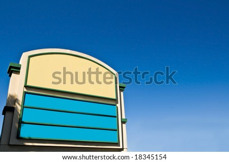 Old-School Shopping Plaza Sign. - stock photo