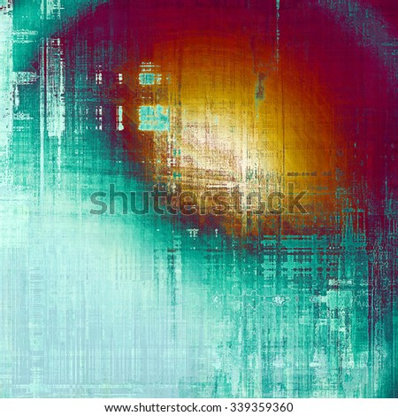 Old school textured background. With different color patterns: yellow (beige); blue; purple (violet); red (orange) - stock photo
