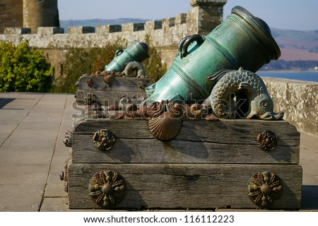 Old Scottish cannon, Culzean castle, Annan