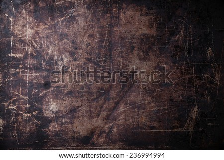 Old scratched black dark background texture  - stock photo