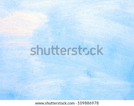 Old scratched blue wall texture (background surface) - stock photo