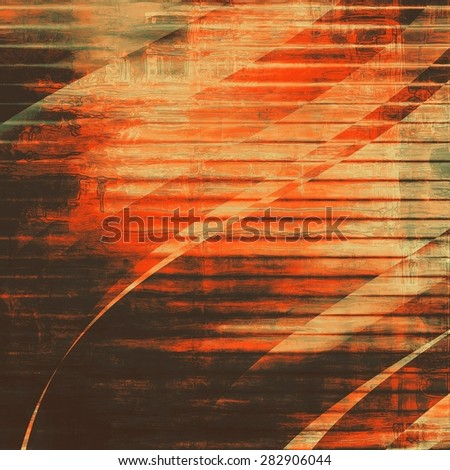 Old scratched retro-style background. With different color patterns: brown; gray; red (orange); black - stock photo