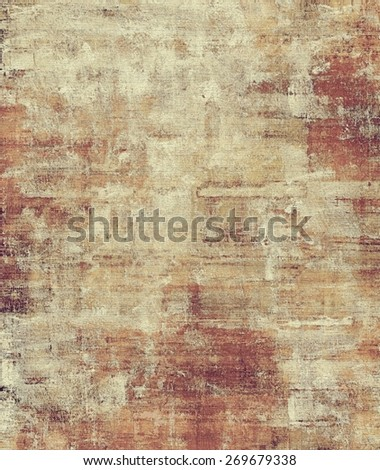 Old scratched retro-style background. With different color patterns: yellow (beige); brown; gray - stock photo