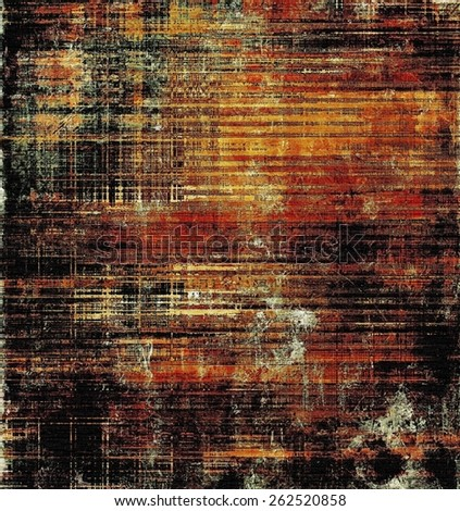 Old scratched retro-style background. With different color patterns: yellow (beige); brown; red (orange); black - stock photo