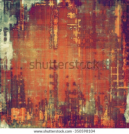 Old scratched retro-style background. With different color patterns: yellow (beige); red (orange); purple (violet); gray - stock photo