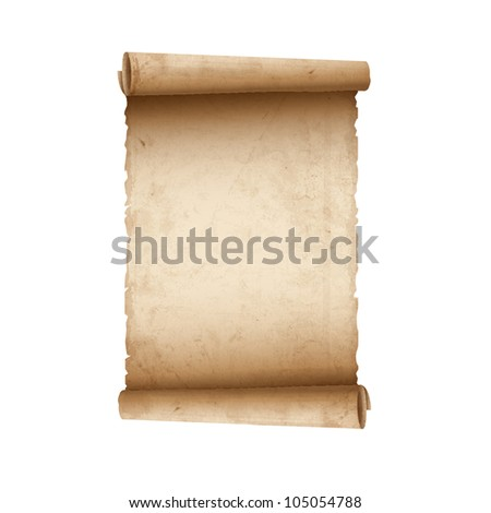Old Scroll paper.Raster version - stock photo