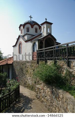 Old Serbian Orthodox Monastery Kakovo Macedonia Greece - stock photo