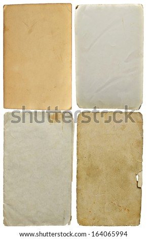 Old set of blank paper