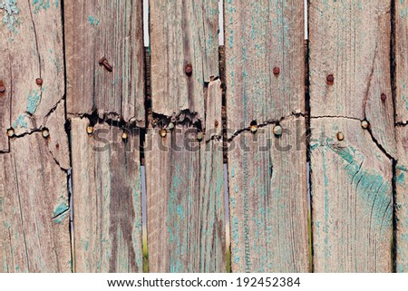 Old shabby wooden background - stock photo