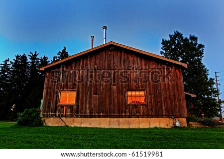 old shack in the Canadian countryside - stock photo