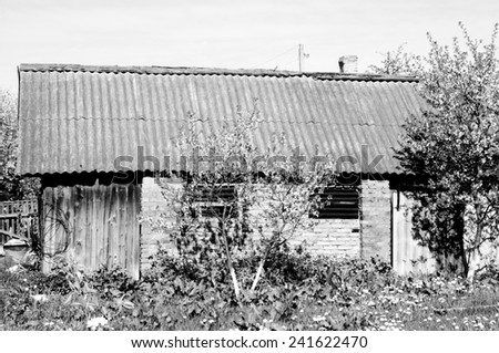 old shed - stock photo