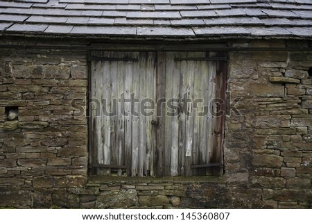 Old shed close-up view Yorkshire Dales Yorkshire England