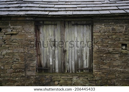 Old shed, close-up view, Yorkshire Dales, Yorkshire, England