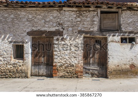 old shed in Spanish village